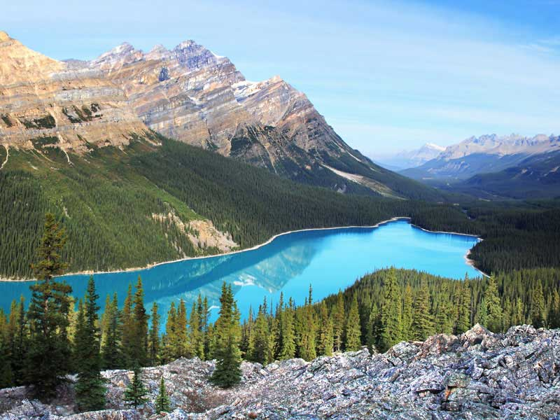 Calgary Stampede and the Canadian Rockies Train Tour | Peyto Lake