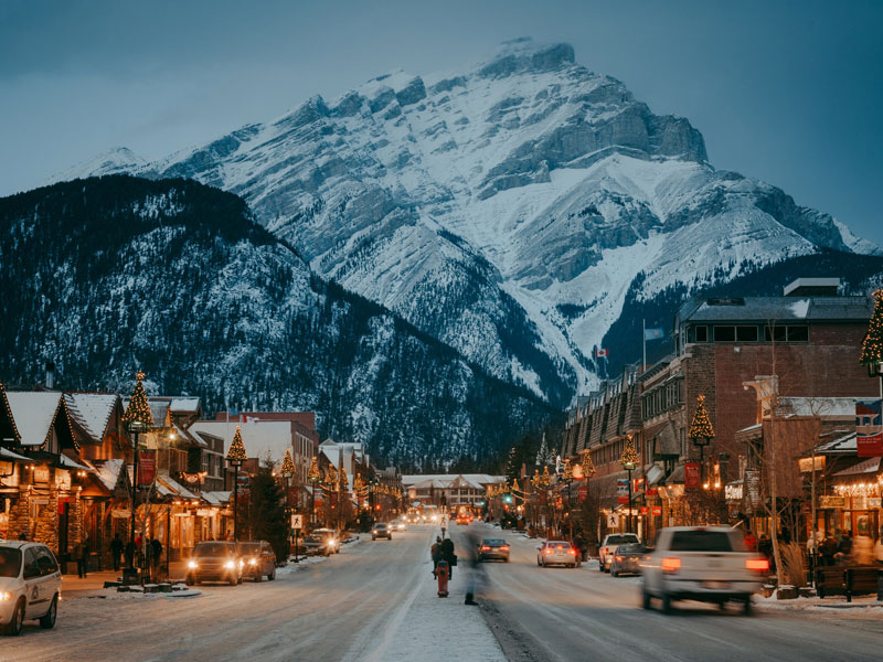 Christmas in the Canadian Rockies Winter Train Vacations | Banff