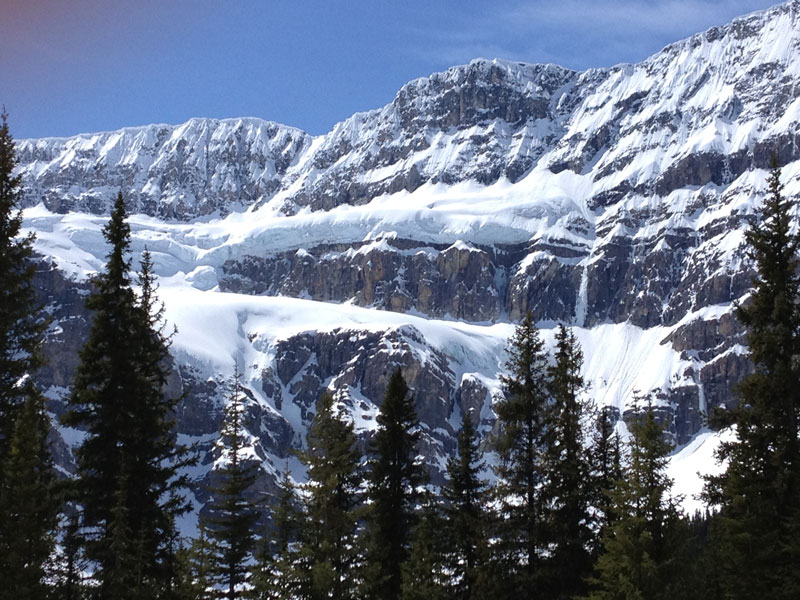 Christmas in the Canadian Rockies Winter Train Vacations | Crowfoot Glacier Icefield Parkway