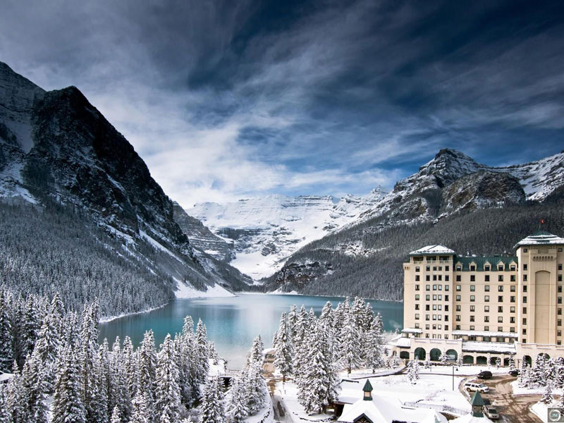 Christmas in the Canadian Rockies Winter Train Vacations | Fairmont Chateau Lake Louise