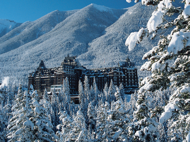 Luxury Winter Train Trip to the Canadian Rockies | Fairmont Banff Springs Hotel