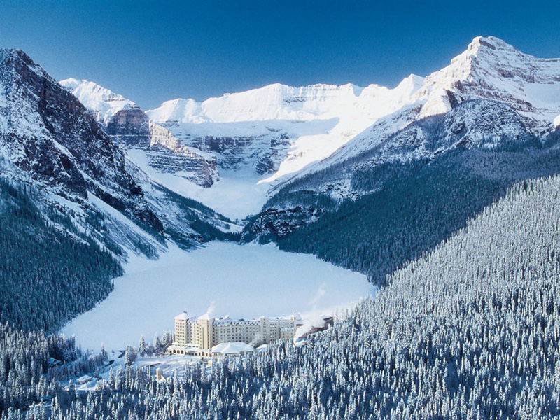 Luxury Winter Train Trip to the Canadian Rockies | Fairmont Chateau Lake Louise