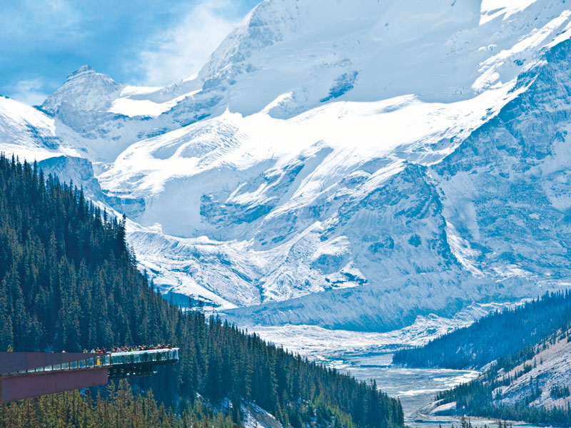 Majestic Canada Train Vacation through the Rockies | Columbia Icefield Skywalk